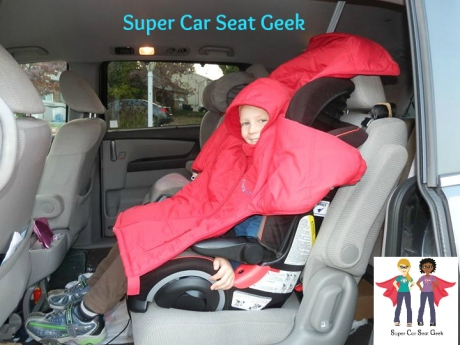 "Image The back of the jacket simply ""flops"" over the top of the car seat and the front of the jacket keeps your child nice & warm."