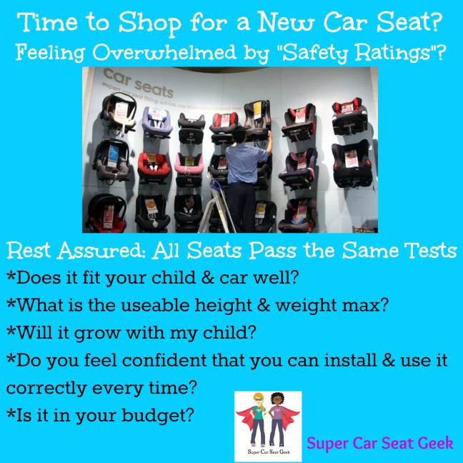 Did you know that all seats sold in the US have to pass the same stringent tests? All seats currently sold are extremely safe when installed & used correctly, but here are some tips on how to pick out a new seat.  Want more information & reassurance? We've gotcha covered!--Ask about our Concierge Service!