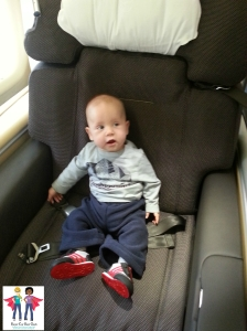 Sabastian on a plane no seat