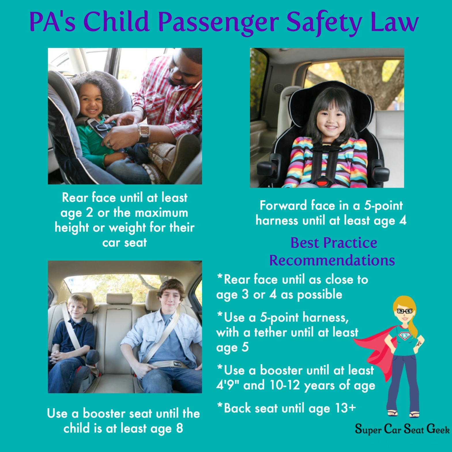 Cool Pa Child Passenger Safety Law Infographic Super Car Seat Geek Onthecornerstone Fun Painted Chair Ideas Images Onthecornerstoneorg